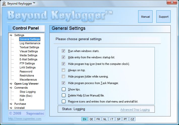 Beyond Keylogger Spy screenshot